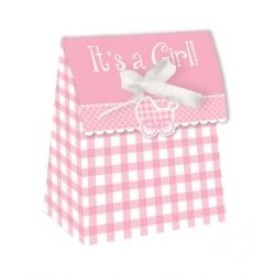 Its A Girl Party Favour Bags With Ribbon