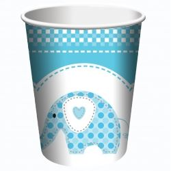 Sweet Baby Elephant Blue Christening Cups