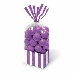 Candy Buffet Stripped Sweet Bags New Purple