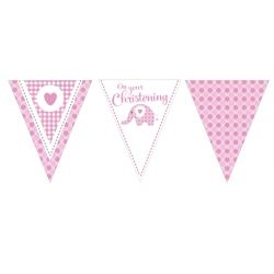 Sweet Baby Elephant Pink PartyFlag Banner