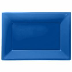 Party Platters Bright Blue