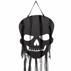 Halloween Black Skull Cutout Decorations
