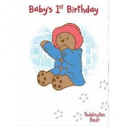 Paddington Bear Babys 1st Birthday Card