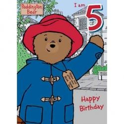 Paddington Bear Birthday Card Age 5