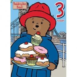 Paddington Bear Birthday Card Age 3