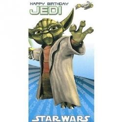 Star Wars Happy Birthday Jedi Card