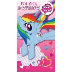 My Little Pony Birthday Card With Badge