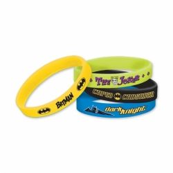 Batman Party Favour Rubber Bracelets