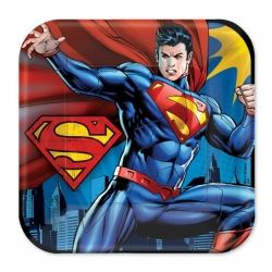 Superman Party Plates