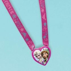 Frozen Party Favour Heart Charm Necklace