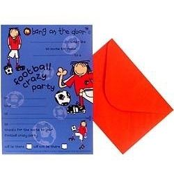 Bang On The Door Football Crazy Party Invitations