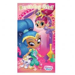 Shimmer & Shine  Birthday Girl Card With A Sticker Sheet