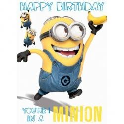 Despicable Me Minion Birthday Card