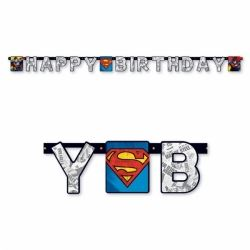 Superman Happy Birthday Party Banner