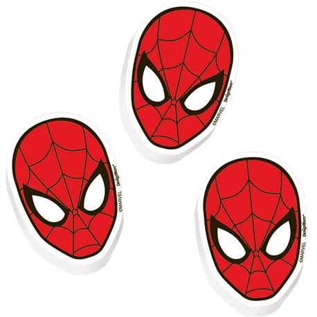 Spidermen Party Favours Erasers