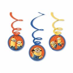 Despicabe Me Minions Party Swirl Decorations