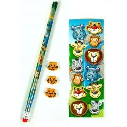 Party Favour Wild Animal Stationary Set