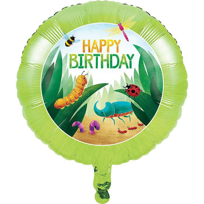 Birthday Bug Party Foil Balloons