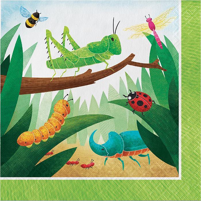 Birthday Bugs Party Napkins