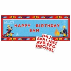 Fireman Sam Large Personalised Banner