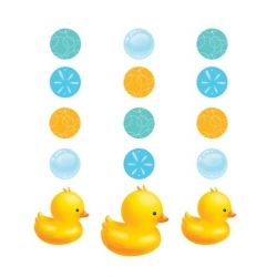 Lil Quack Bubble Bath Party Hanging Decorations