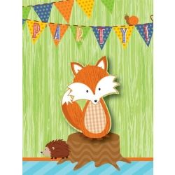 Forest Fox Party Invitations