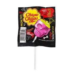 Chuppa Chups Skull Strawberry & Lime Party Lollipop