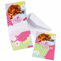 Charming Horses Party Invitations