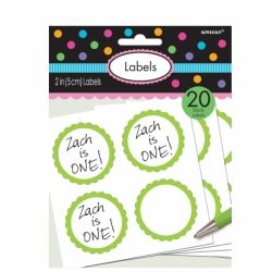 Candy Buffet Scalloped Labels Green