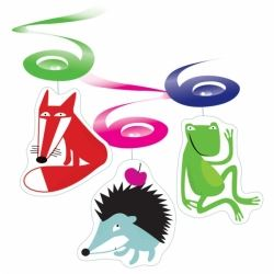 Animal Wildlife Party Swirl Decorations