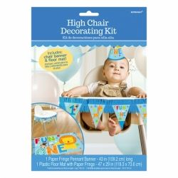 Wild At One Boy 1st Birthday High Chair Kit