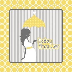Mod Baby Shower Party Napkins