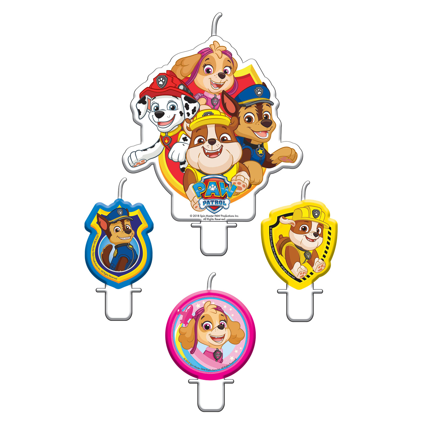 Paw Patrol  Party Candles