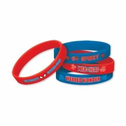 Spiderrman Party Favour Rubber Bracelets