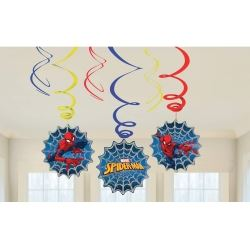 Spiderman Party Swirl Decorations