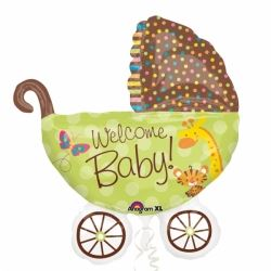 Fisher Price Foil Supershape Baby Buggy Balloon