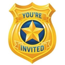 Police Party Invitations