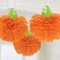Fluffy Pumpkins Halloween Party Decorations