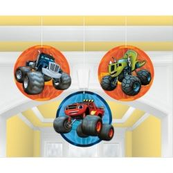 Blaze And The Monster Machines Party Honeycomb Decorations