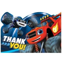 Blaze And The Monster Machines Party Thank You's