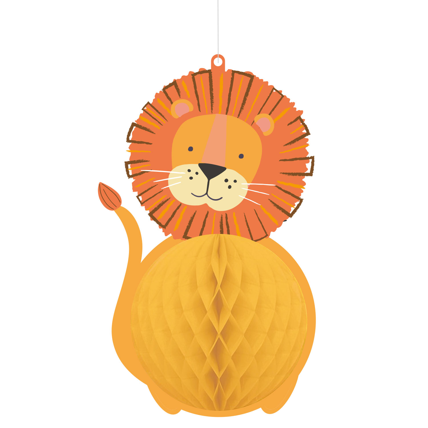 Super Mario Party Hanging Honeycomb Decorations