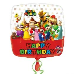 Super Mario Happy Birthday Foil Party Balloon