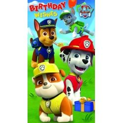 Paw Patrol Birthday Wishes Card
