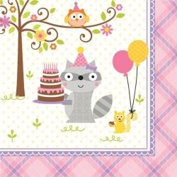 Happi Woodland Girl Party Napkins