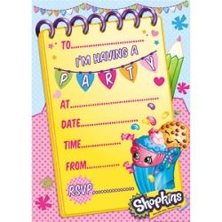 Shopkins Party Invitations