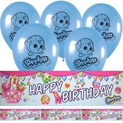 Shopkins Party Banner & Balloon Kit