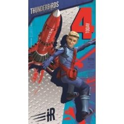 Thunderbirds Birthday Card Age 4