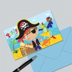 Little Pirate Party Invitations
