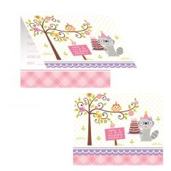 Happi Woodlands Girl Party Invitations