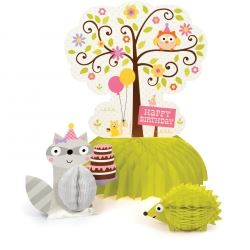 Happi Woodland Girl Party Centrepiece Decoration